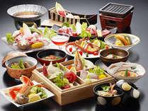 【贅沢に!グレードアッププラン】黒牛陶板焼きに薩摩黒豚3種料理&ロブスター■極み会席<ポイント6%>