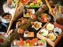 【九州唯一】自分でもぎって炙り焼き!採れたて原木しいたけや季節のお野菜、黒毛牛や活き鮑など網焼き会席