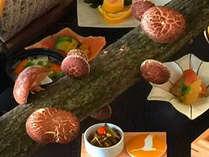 【九州唯一】自分でもぎって炙り焼き!採れたて原木しいたけと黒毛和牛の炙り焼き会席