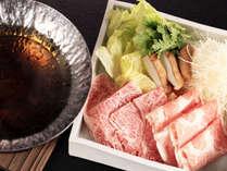 【肉料理/夕食一例】黒毛和牛と神話豚のしゃぶしゃぶ
