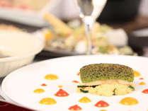 【夕食一例】料理長が魅せる!オリジナル和洋折衷会席。