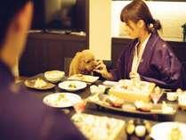 【D+PREMIUM】夕食も朝食もお部屋食で一緒に楽しめます。
