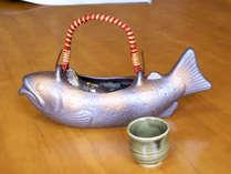 *【岩魚の骨酒】岩魚を丸ごと使いました!香ばしい香りもお楽しみください。