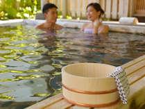 【お泊り専用】貸切露天≪沢子の湯≫なら広い湯船で『ふたり温泉』を楽しめちゃう♪