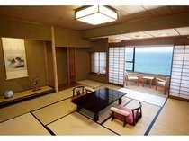 【一般和室】海を眺めてゆったりお寛ぎいただける部屋食プランも