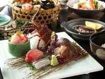 【伊勢海老・金目鯛・鮑】を使った会席・海の3大味覚会席プラン(2食付き・夕食お部屋食)