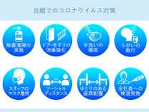 松本楼では新型コロナウィルス感染予防のため、対策を実施しております。