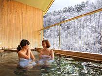 【展望露天風呂】冬の雪見露天を贅沢に・・・。