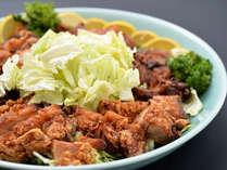 信州B級グルメ「山賊焼」。カリカリとした食感と、鶏肉のやわらかさが絶妙です。
