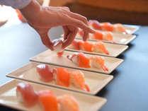 握りたてのお寿司コーナーもご用意。
