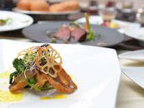 【日本海と信州の恵みフレンチ】新鮮な日本海の恵みを使用した魚料理。