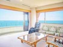 3階特別室 180度見える海は圧巻です