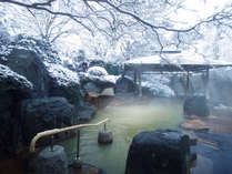 非日常を味わう!雪の露天風呂