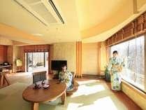 【ご夕食はお部屋食】 個性あふれる客室で過ごす!『活き鮑酒蒸し&仙台牛石焼き 緑水御膳』