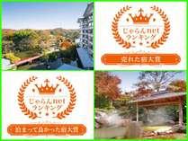 じゃらんnetランキング2018 売れた宿大賞1位・泊まってよかった宿大賞2位 ダブル受賞!