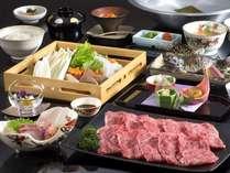 松阪牛しゃぶしゃぶプラン。肉汁あふれる松阪牛と新鮮野菜を召し上がれ♪