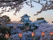 春爛漫の石川門~兼六園からの風景