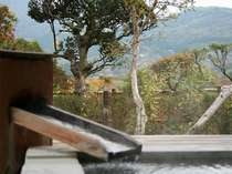 箱根の山々を望みながら、湯の音を聞いてみては