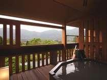 本館露天風呂つきお部屋のお風呂からの眺め