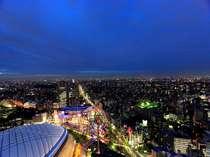 ○東京ドーム側(夕景)