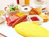 朝食は当面の間ビュッフェを中止し、和定食または洋定食でのご提供に変更させていただきます。(一例)
