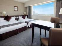 【ツイン/26㎡・ベッド幅110㎝】広々とした空間で贅沢なひとときを