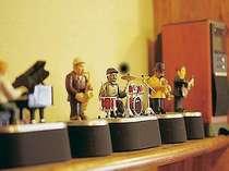 かわいいジャズバンドたちがお出迎え♪【ロビー】