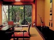 庭に面したお部屋:純和室で旅情を満喫