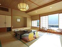 当館人気の新館客室「清山館」。清祥館客室通常料金よりお一人様3000円UPで利用可能。