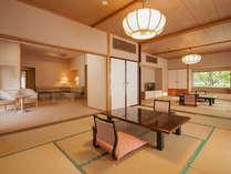 特別室は和室が二間とリビングルーム。最高級の貴賓室です。リピーターのお客様も。