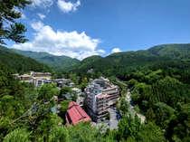 四万温泉唯一の大型旅館