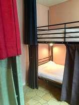 ドミトリー男女共用 シングル二段ベッド 1名様