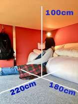 プライベートルーム シングル&ツイン二段ベッド 1~6名様