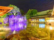 混浴大露天風呂「龍宮の湯」夜は幻想的な風景が広がります★