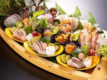 【日本海の幸】旬の魚介新鮮7種盛!地魚会席(全11品)