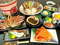 濃厚な味わいの津居山ガニと上質な香住ガニを1度に味わえる満腹コース!(^^)!