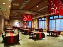 夕食は和空間にJazzが流れる会食場「弥生」にて(6名様以上は専用宴会場になる場合がございます)