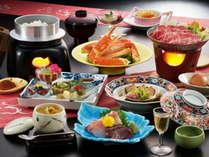 4大味覚【蟹・牛・鮑・ウニ】贅沢ひさご会席の一例