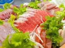 ある日のお刺身魚種は水揚げ次第です