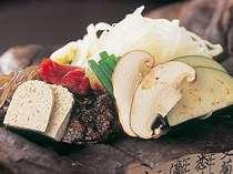 朝食につく朴葉味噌(一例)