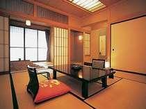 【茶寮庵】ゆったり広々した客室■雅の間 12.5畳+6畳(掘り炬燵)+2畳(仕度部屋)+3畳(踏込み)