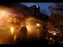 名湯・蒲田温泉が溢れる温泉は「美人の湯」と呼ばれ、お肌ツルツルに♪露天風呂