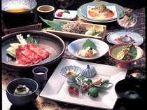 奥飛騨の旬の素材を生かした会席料理(一例)