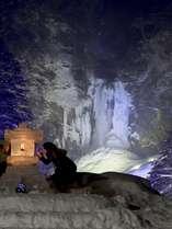 【平湯大滝結氷まつり】2月中旬。大かまくらや冬花火も♪