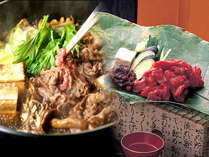 すき焼きと飛騨牛朴葉焼き(イメーシ゛)