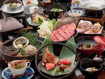 食べくらべ味くらべ!期間限定焼き鮑と極上飛騨牛しゃぶしゃぶ会席(イメーシ゛)