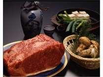 飛騨牛と秋の味覚松茸イメージ