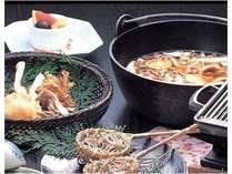 【秋グルメプラン】= 秋の一番人気プラン! =『きのこ鍋&土瓶蒸し』と『飛騨牛』を贅沢コラボ♪