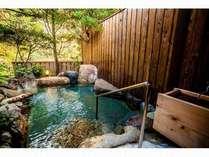 【貸切】好評!貸切露天風呂の一例です