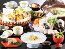 ◆とらふぐ会席◆とらふぐ、旬菜など、春を彩る豪華料理をどうぞ[一例],京都府,夕日ヶ浦温泉 夕日浪漫 一望館